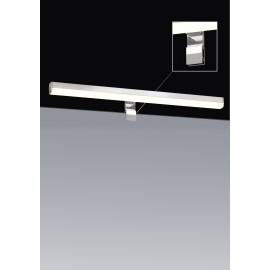 Aplique de Pinza LED fija 12w para espejo IP20. Para acoplar en espejo o en superficies planas. Color Cromo.