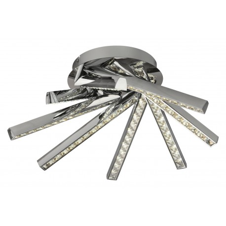 Plafon MANGLAR 48W 4000K, 8 brazos de aluminio y acabado cristal-cromo