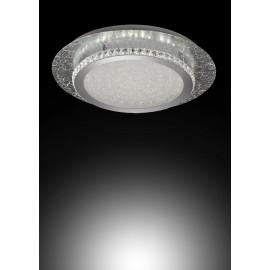 Plafón LED 18W 4000K. Acabado en pan de plata