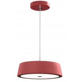 Lámpara colgante Montecarlo redonda 30W en rojo