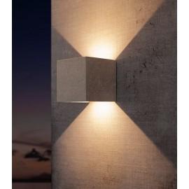 Aplique LED exterior Cemento 12w