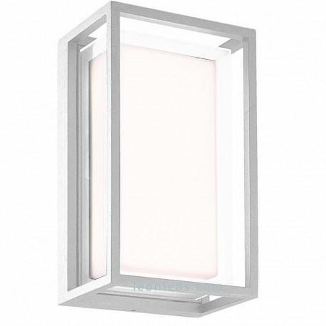 Aplique exterior LED rectangular 9W 3000K