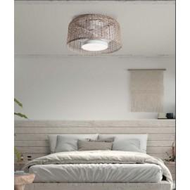 Ventilador de techo de mimbre 24w regulable 7 aspas